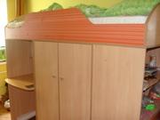 Набор детской модульной мебели и матрас