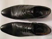 Туфли кожаные чёрные 43 размер надеты 1 раз