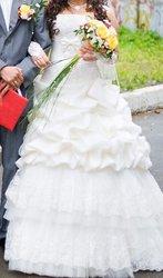 Красивое свадебное платье свет айвари