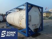 Танк-контейнер для перевозки опасных химических веществ.
