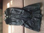 Продается кожанное пальто/плащ